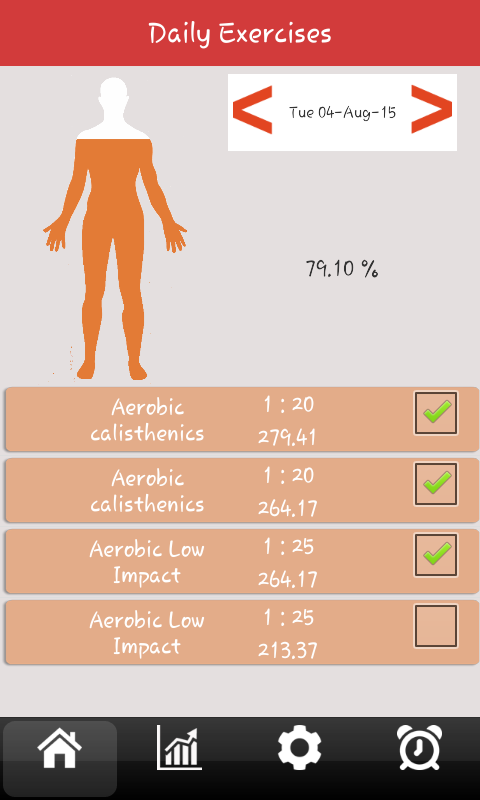 Body Fitness App- screenshot