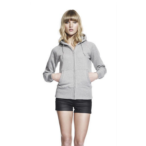 Women's Zip-Through Hooded Sweatshirt -Grey
