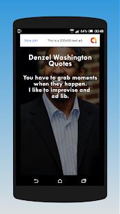 Download Denzel Washington Quotes For PC Windows and Mac apk screenshot 2