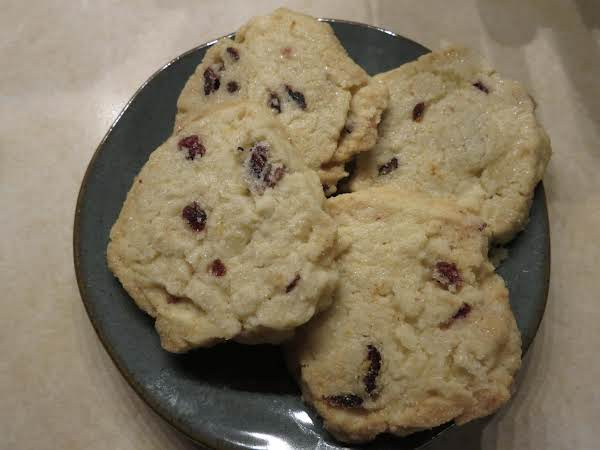 Cranberry/orange Shortbread Cookies Recipe