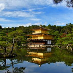 kinkakuji temple by Joena Belajar - Landscapes Travel
