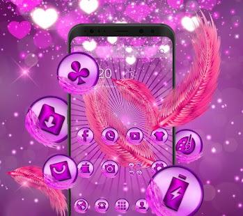 beauty purple feather theme purple wallpaper - náhled