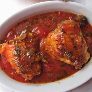 Easy Chicken Marengo in a Slow Cooker.