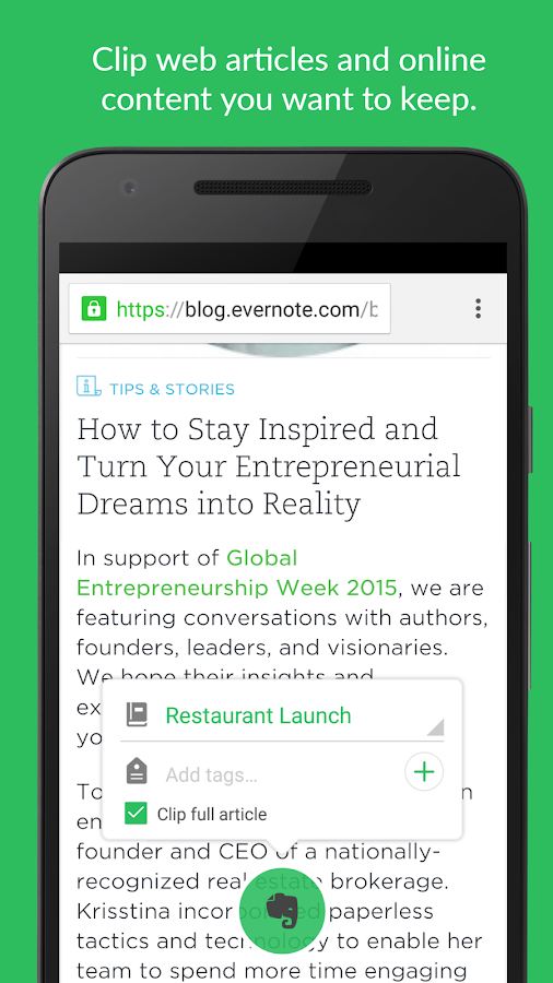 Evernote - stay organized.- screenshot