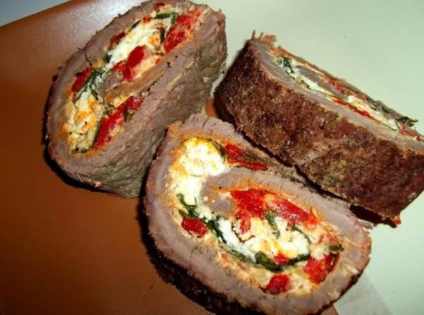 Stuffed Flank Steak / Greek Style Recipe