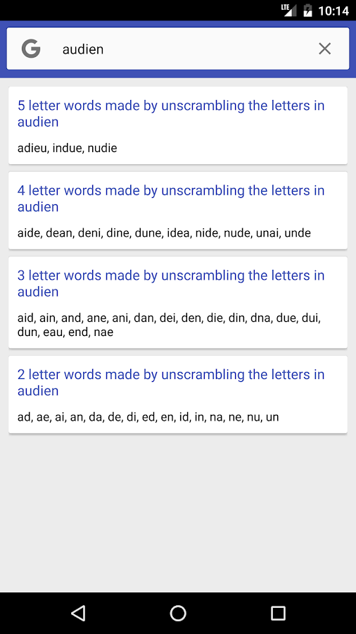 Unscramble Letters Android Apps on Google Play
