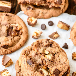 Peanut Butter Snickers Cookies.