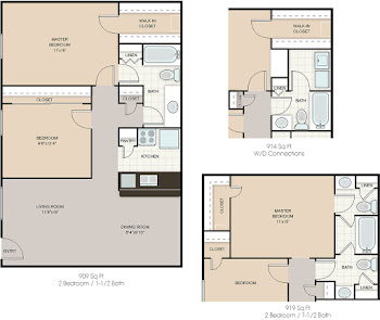 Go to Water Mill (Washer/Dryer) Floorplan page.