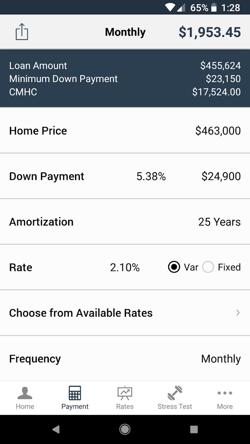 Скриншот Andre Persaud Mortgage App