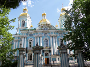 Photo: St. Nicholas Cathedral has never closed since it was constructed in 1750.  Of the 130 churches in St. Petersburg, only 18 remained open in the 1950's.