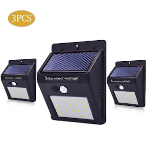 Lampa solara 20 LED cu senzor de miscare