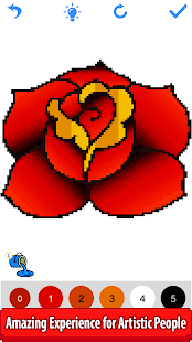 Tattoo Color by Number: Pixel Art,Sandbox Coloring
