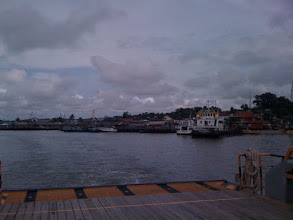 Photo: Pulling out of port, enroute to the Saipem 10,000