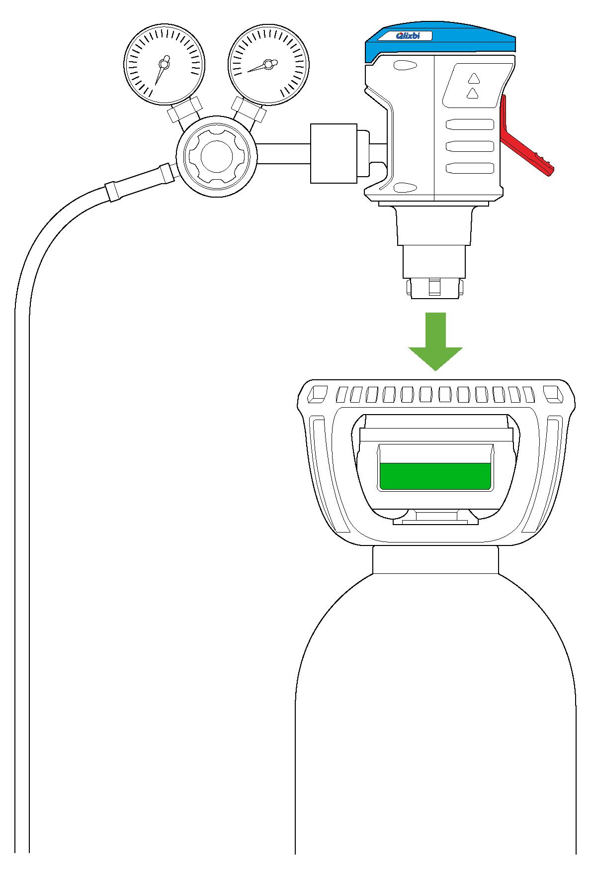 Schritt 2: Gasflasche anschließen