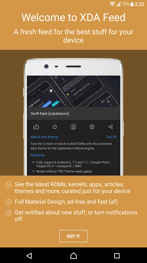 XDA Feed - Customize Your Android- screenshot