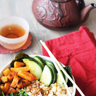 Vegan Sushi Bowl with Ginger Soy Dressing