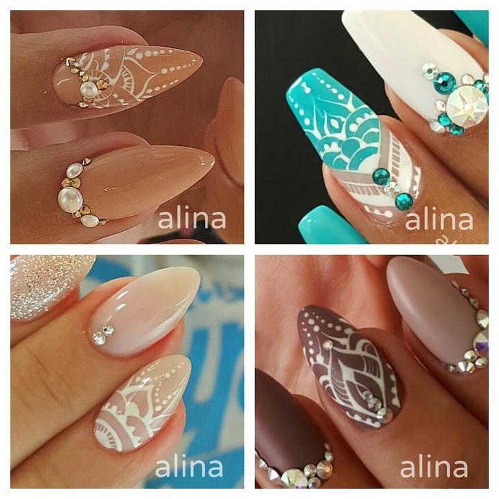 Hand Painted Mandalas - Alina Hoyo Nail Artist
