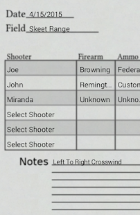 Shotgun Scorecard - screenshot thumbnail