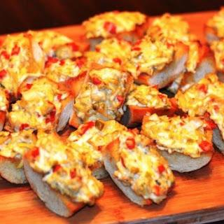 Easy Cheesy Artichoke Crostini