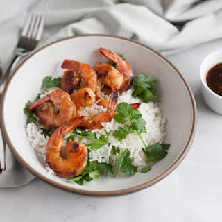 Bourbon and Honey Garlic Shrimp.