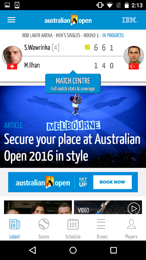 Australian Open Tennis 2016- screenshot