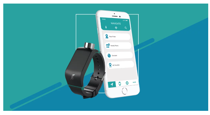An image of the Sunu Band with its mobile app