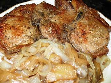 Baked Pork Chops with Apples & Onions