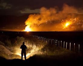 Photo: Watching the 1200 acre Buckeye fire near Bridgeport in the Eastern Sierra on Sunday night