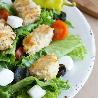 Chicken Parmesan Salad with Balsamic Vinaigrette