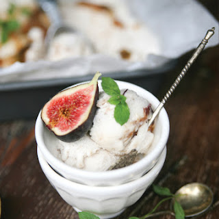 Roasted Honey and Fig Coconut Ice Cream.