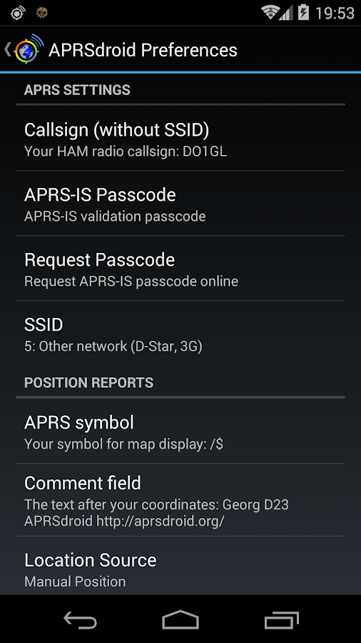 APRSdroid - APRS Client- screenshot