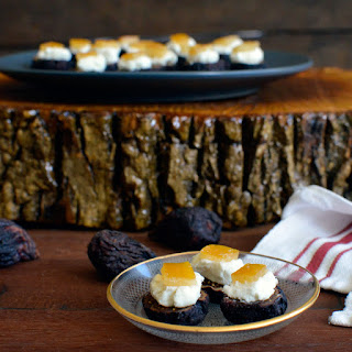 Fig & Candied Lemon Bites with Chevre
