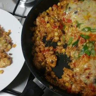 Cheesy Chicken Enchilada Rice