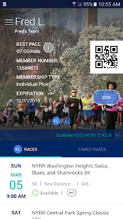 NYRR App- screenshot thumbnail