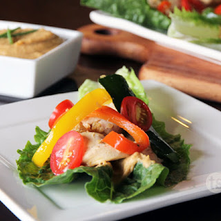 Chicken Hummus Lettuce Wraps