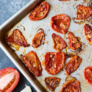 Oven Roasted Tomatoes with Goat Cheese
