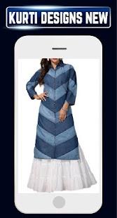 Latest Designer Girls Kurtis Designs Long n Neck - náhled