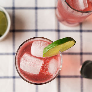 Cherry + Cilantro Vodka Spritzer