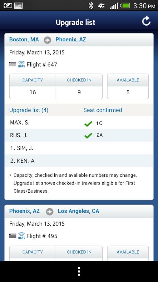US Airways - screenshot