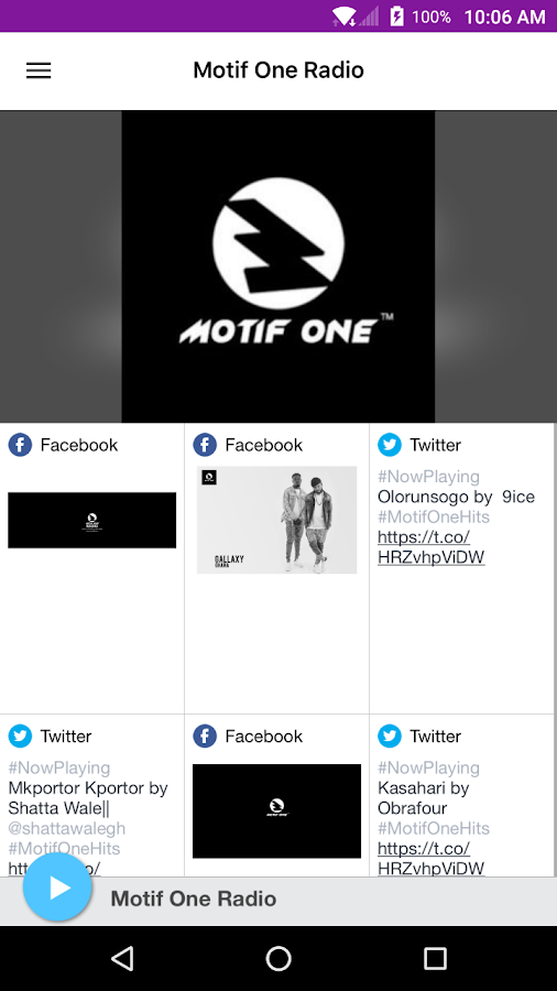 Motif One Radio- screenshot