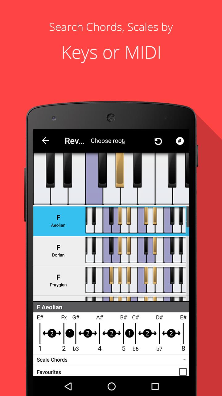 Piano Chords, Scales, Progression Companion PRO Screenshot 1