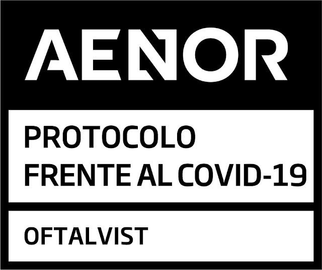 Recientemente avalado por AENOR, compañía que ha concedido a los centros de Oftalvist el Certificado de protocolos de actuación frente al COVID-19.