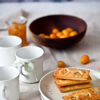 Poached Kumquat & Almond Cakes.
