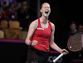 Alison Van Uytvanck maakte één van de mooiste shots in de Fed Cup