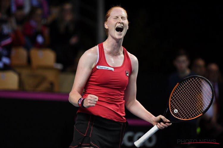 ? Komt 'shot van het jaar' in Fed Cup van Alison Van Uytvanck?
