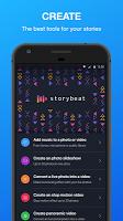screenshot of Storybeat, unleash your creativity