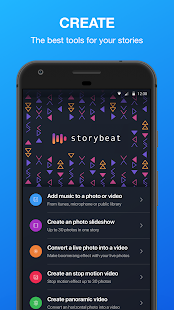 Storybeat, unleash your creativity Screenshot
