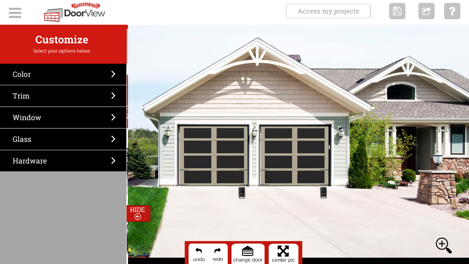 Doorview android apps on google play for Garage door visualizer