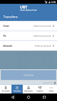Screenshot of Union Bank & Trust Mobile Bank