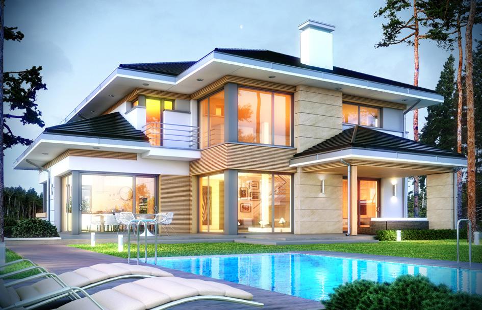 projekt domu dom z widokiem 2 tjl 816. Black Bedroom Furniture Sets. Home Design Ideas